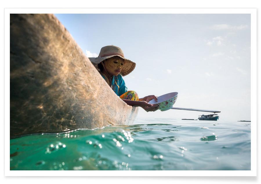 Ocean, Lake & Seascape, Boats, Sea Gypsy 1 Hat Poster