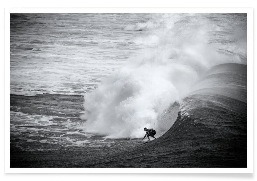 Schwarz & Weiß, Ozeane, Meere & Seen, Surfen, Indonesia Surf -Poster