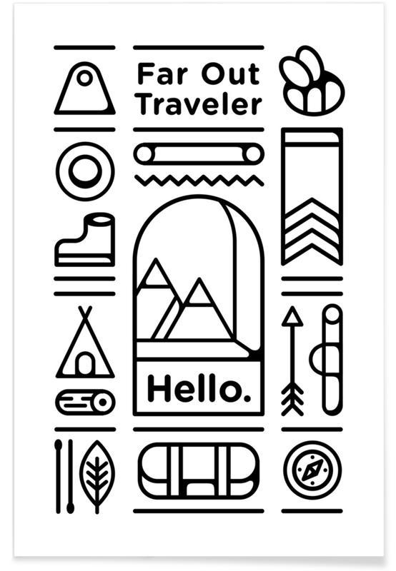 , Far Out Traveler Poster