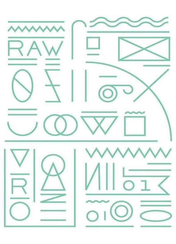 Raw -Leinwandbild