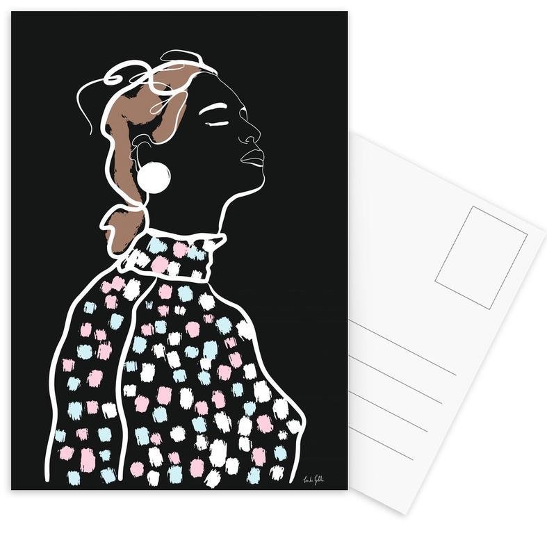 Mode-illustratie, Inhale ansichtkaartenset