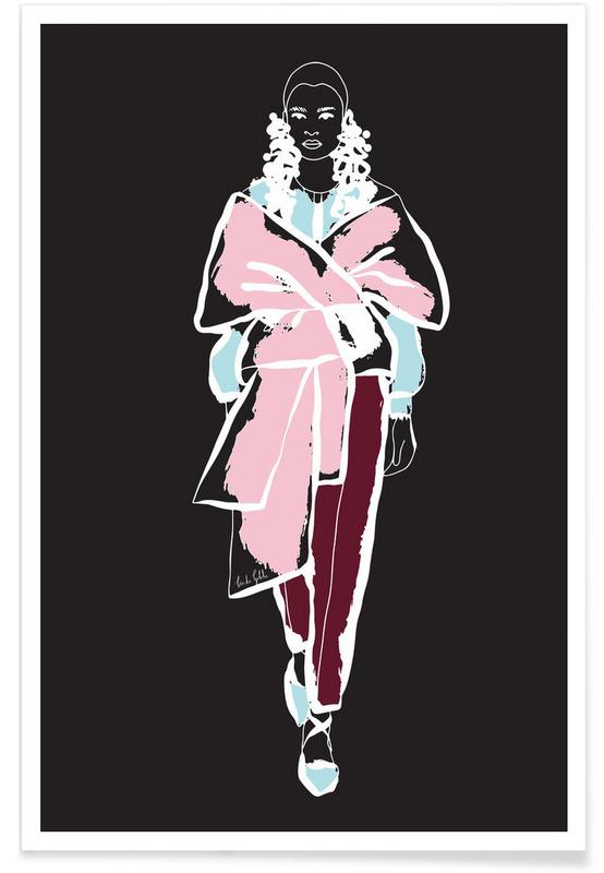 Illustrations de mode, Fashion Girl affiche
