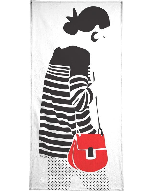 Stripy Parisian serviette de bain