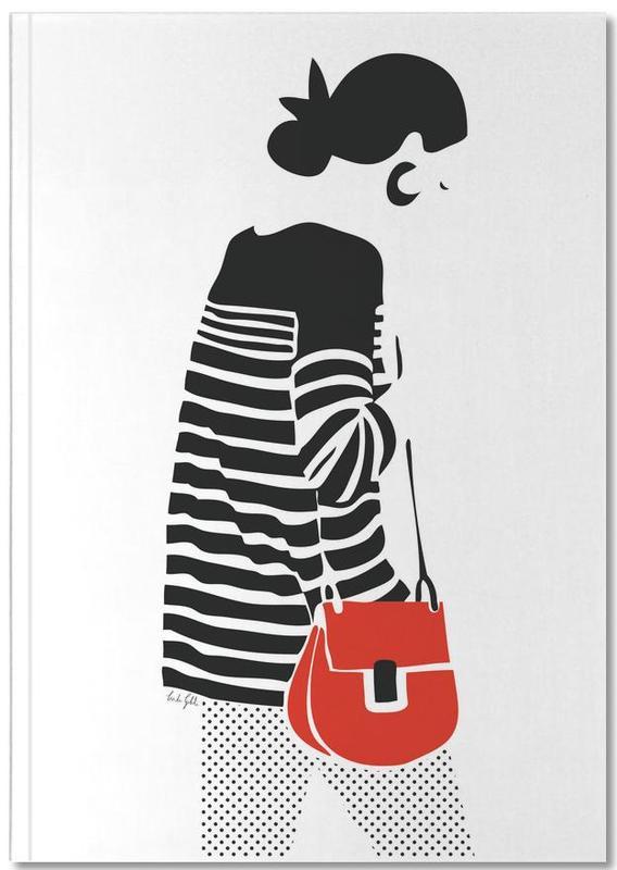 Stripy Parisian Notebook