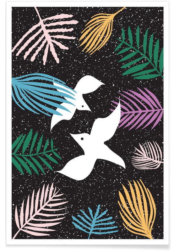 Tauben, Birds of Paradise -Poster