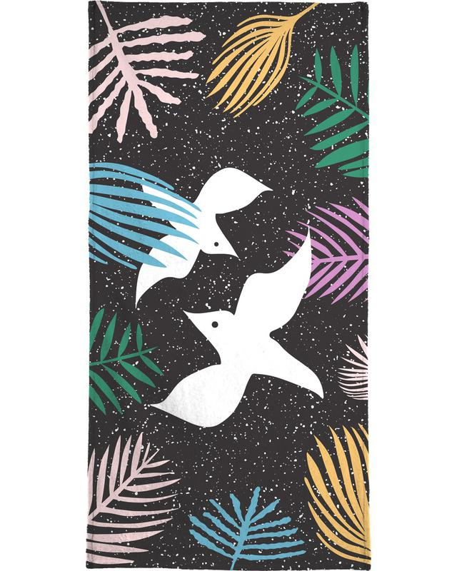 Birds of Paradise Bath Towel