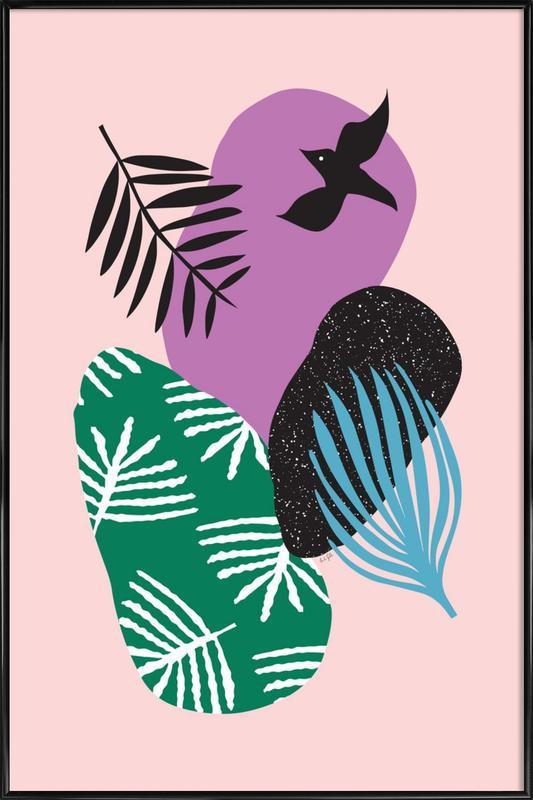Love Birds in Pink Framed Poster