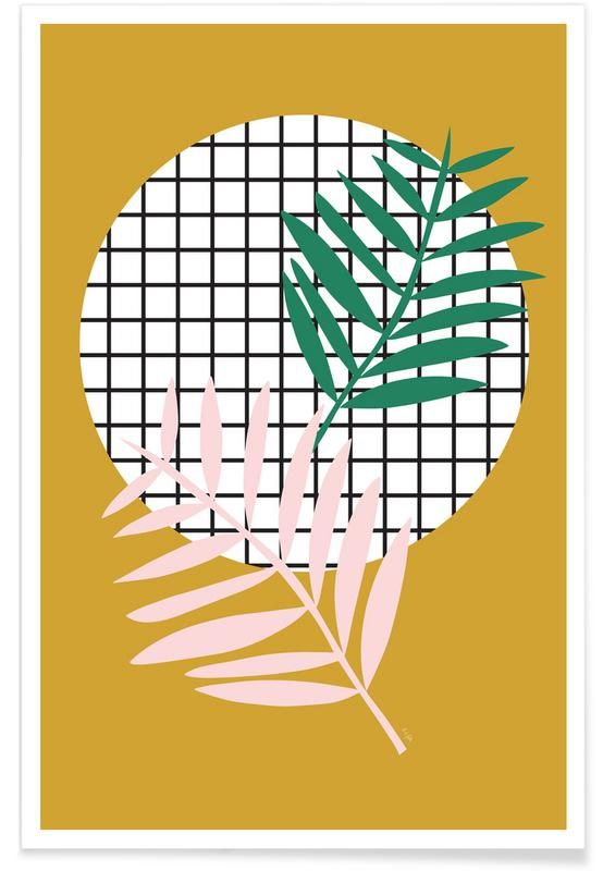 Palm Leaves in Mustard affiche