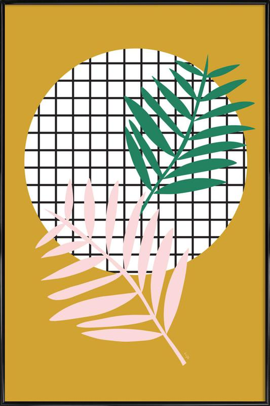 Palm Leaves in Mustard Framed Poster