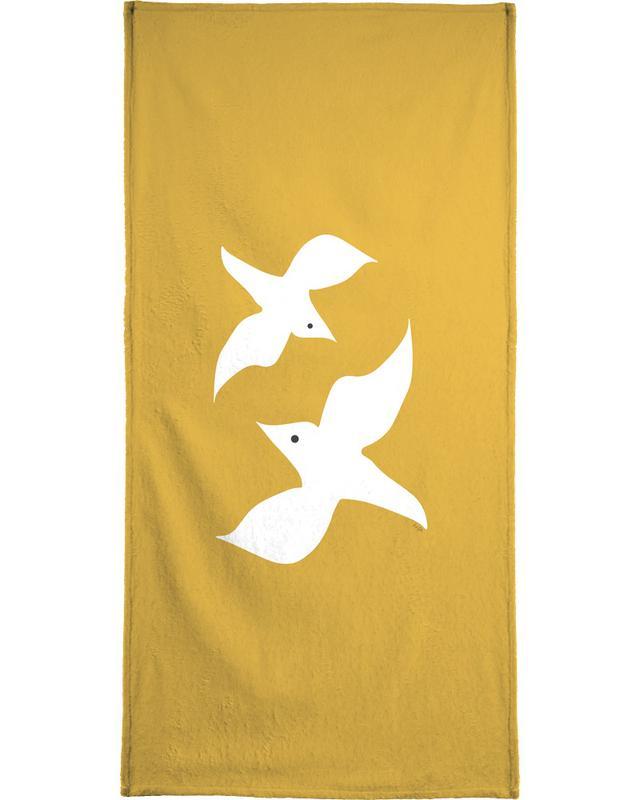 Duiven, Birds in Mustard strandlaken