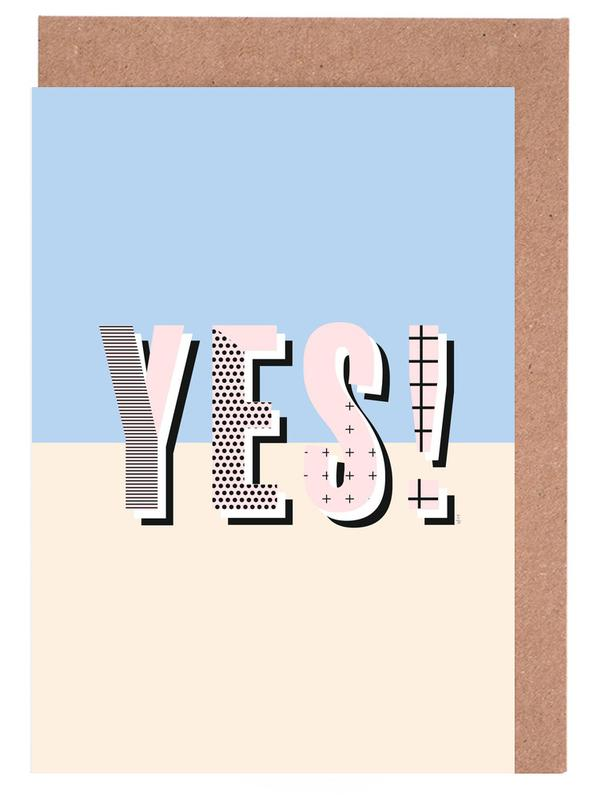 Yes -Grußkarten-Set