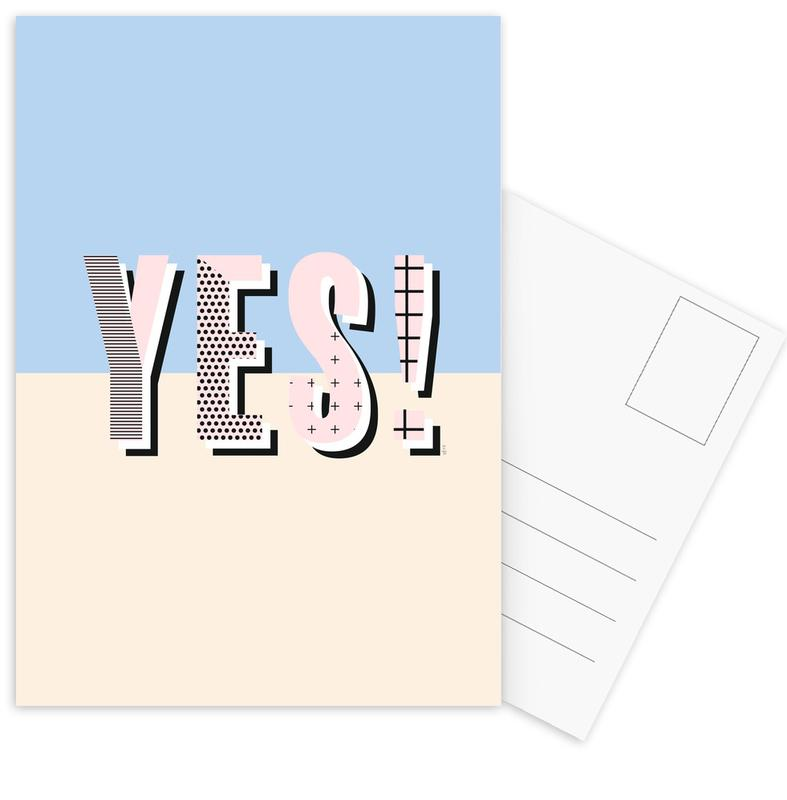 Yes -Postkartenset