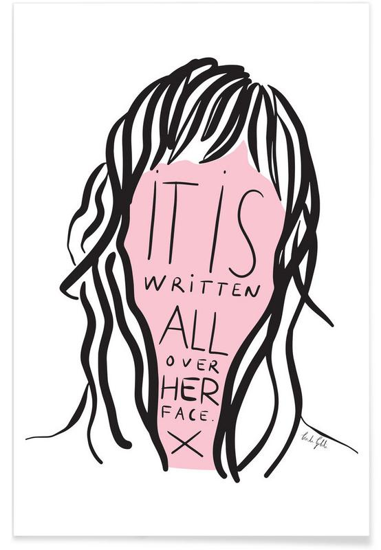 Writing on Her Face -Poster