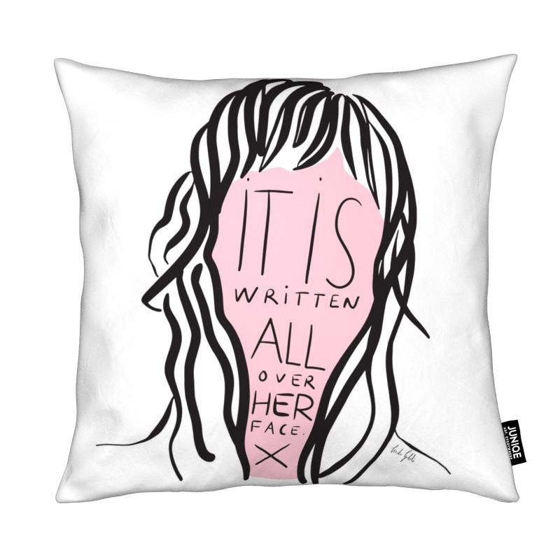 Citations et slogans, Writing on Her Face coussin