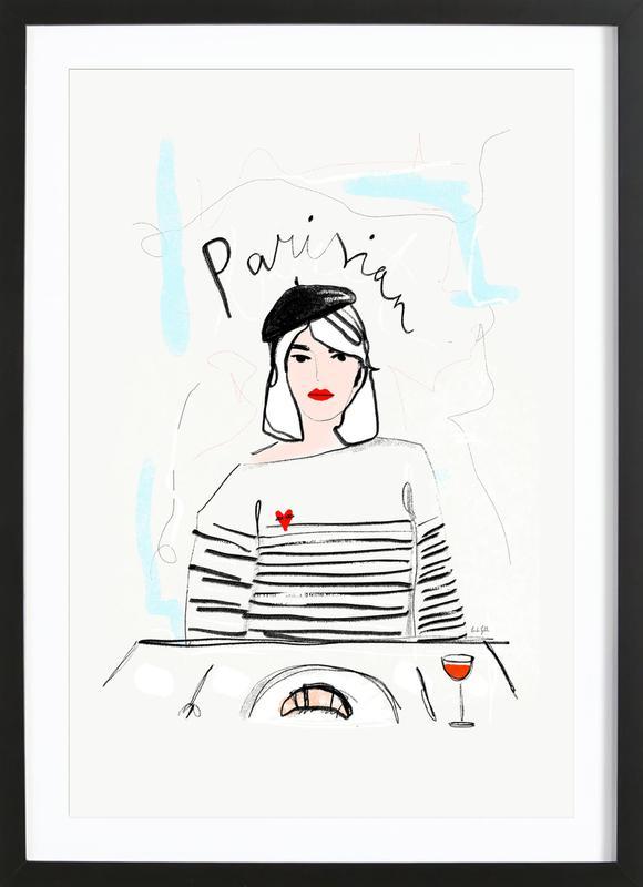 Miss Parisian affiche sous cadre en bois