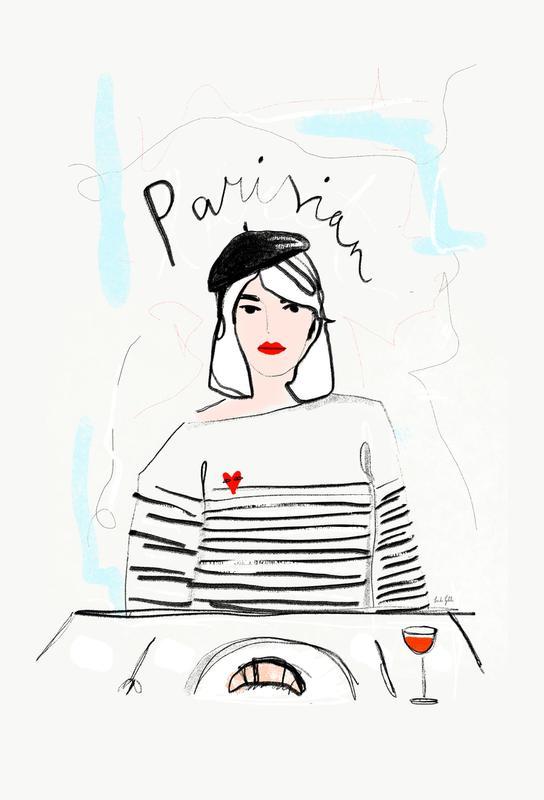 Miss Parisian acrylglas print