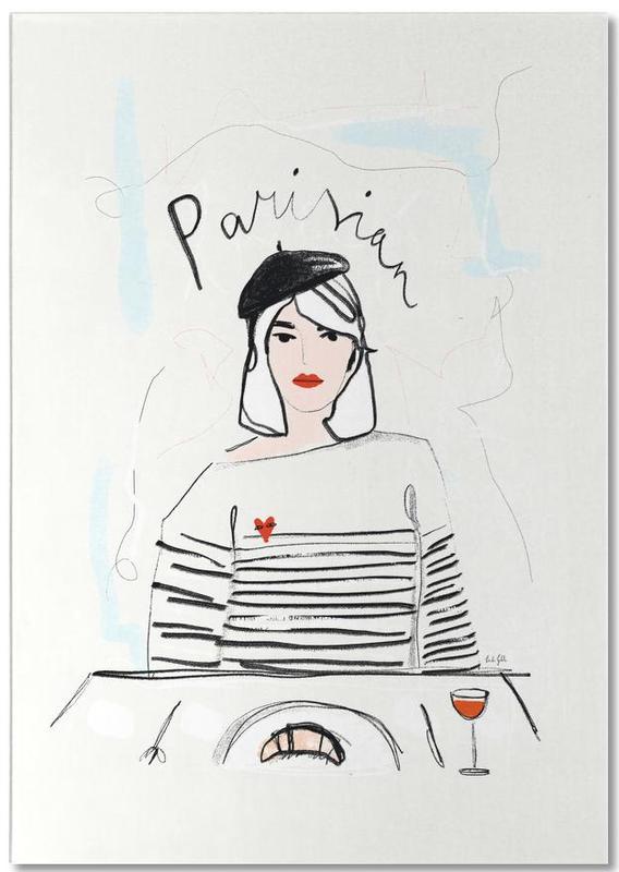 Modeillustration, Porträts, Miss Parisian -Notizblock