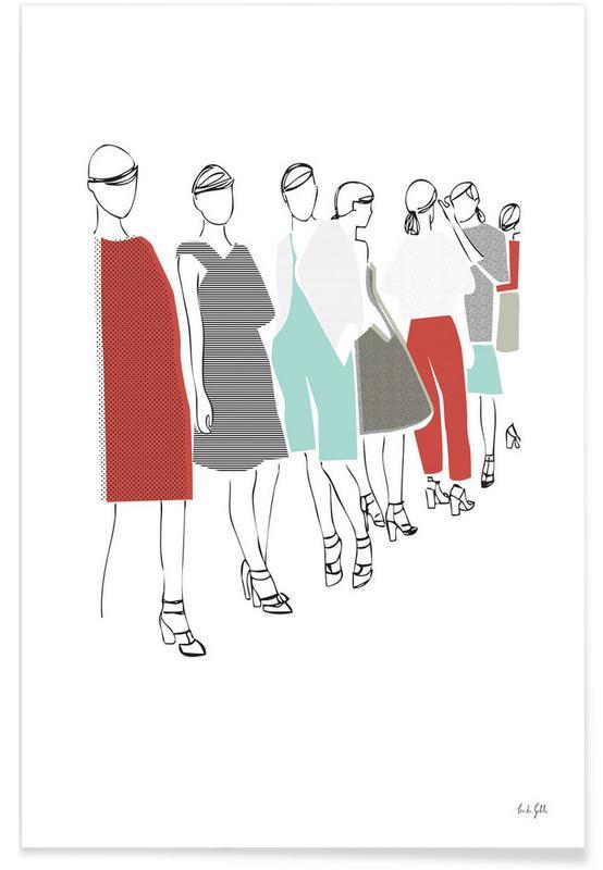 Mode-illustratie, Catwalk poster