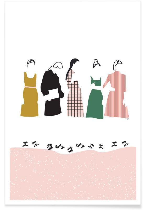 Groupes, Illustrations de mode, Fashion Line affiche