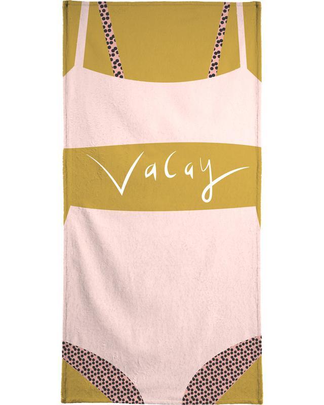Illustrations de mode, Vacay serviette de plage