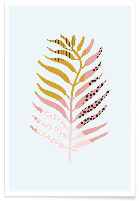 Graphic Leaf affiche