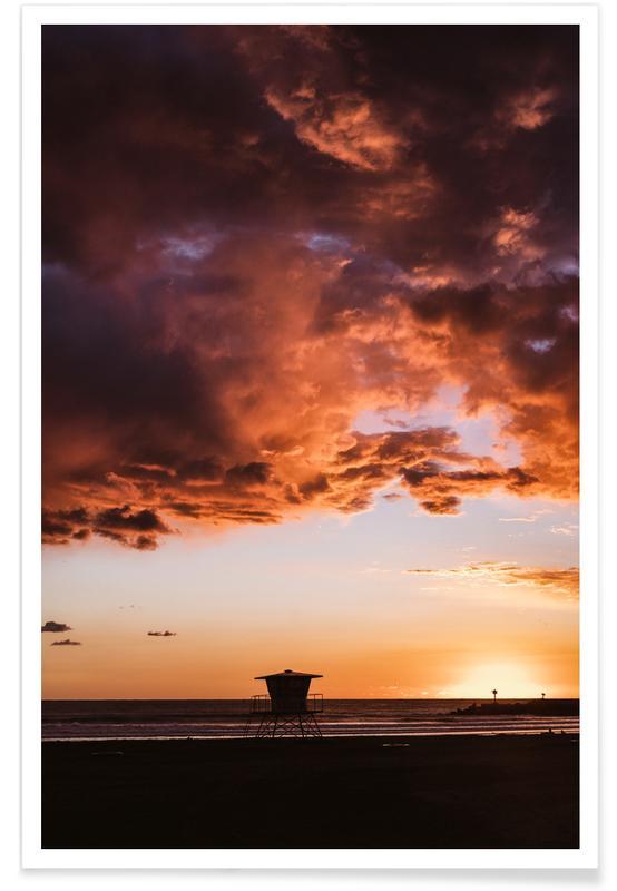 Lucht en wolken, Zonsondergangen, Pacific Sunset poster