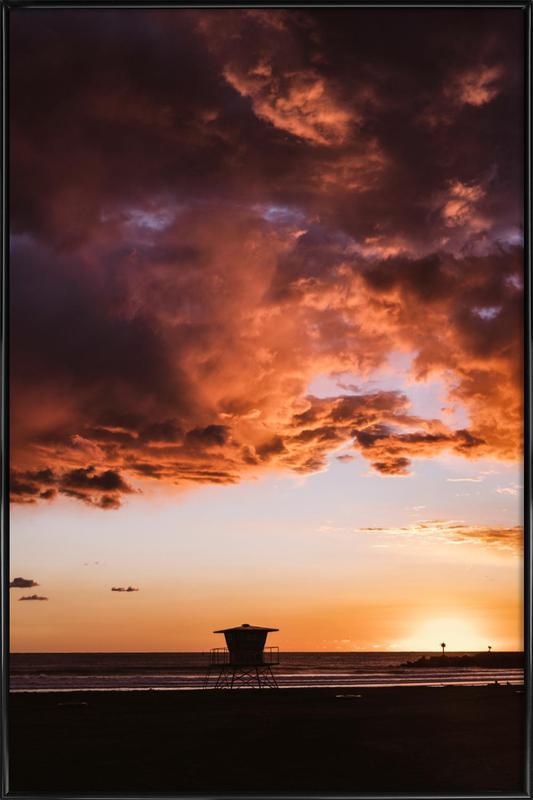 Pacific Sunset affiche encadrée