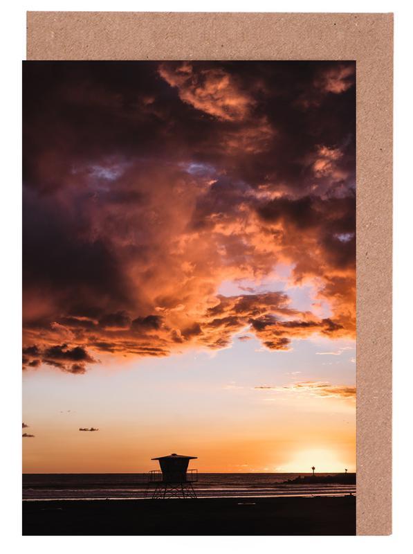 Pacific Sunset cartes de vœux