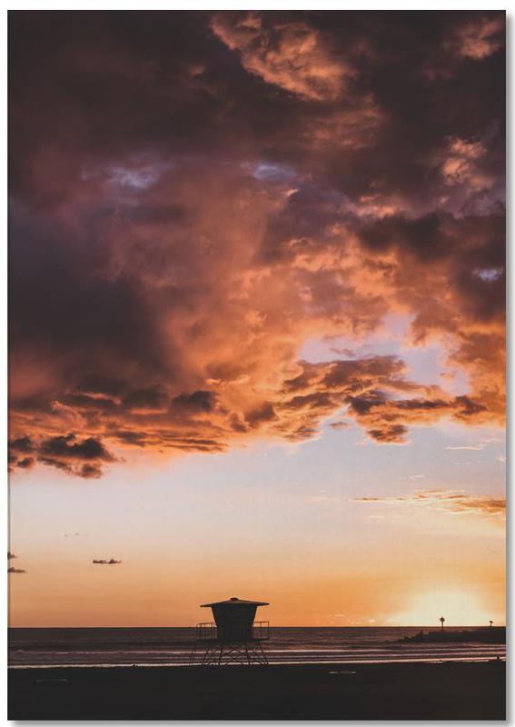 Himmel & Wolken, Sonnenuntergänge, Pacific Sunset -Notizblock