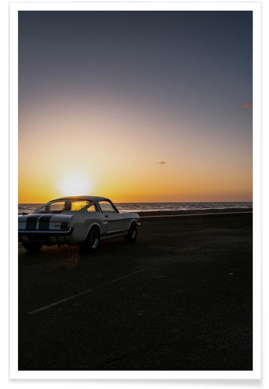 Sunset Mustang affiche