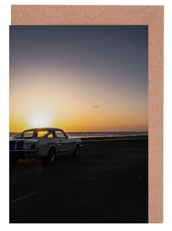 Sunset Mustang Greeting Card Set