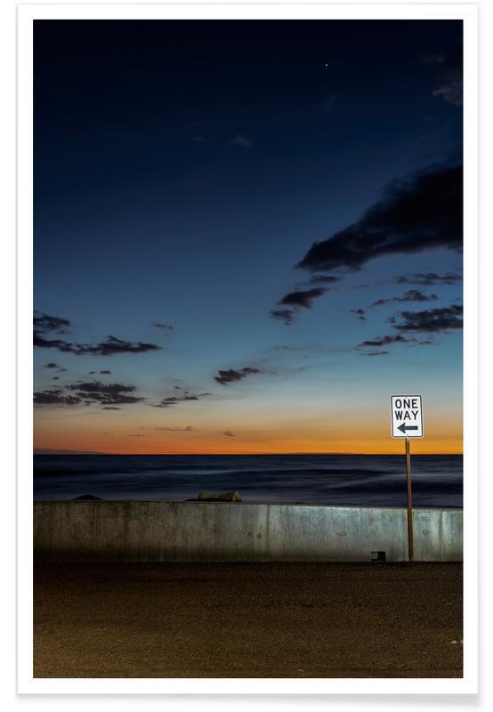 Zonsondergangen, One Way poster
