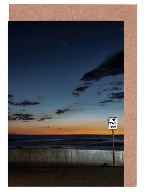 Sonnenuntergänge, One Way -Grußkarten-Set