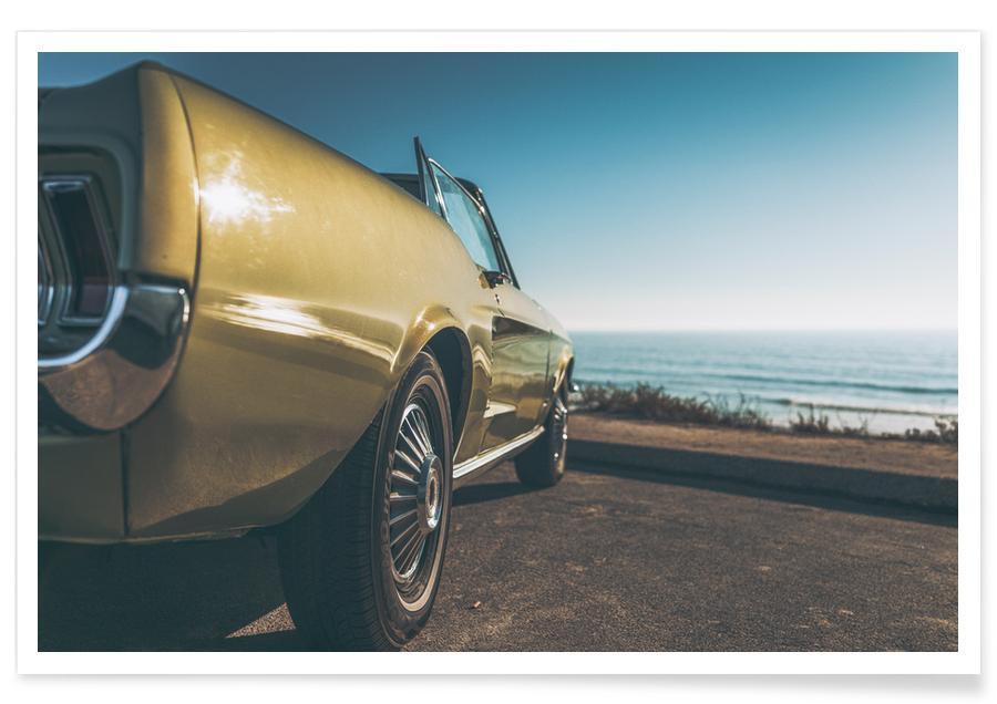 Ocean, Lake & Seascape, Beaches, Cars, Travel, Rest Stop Poster