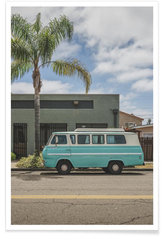 Ocean, Lake & Seascape, Beaches, Cars, Travel, Cali Camper Poster