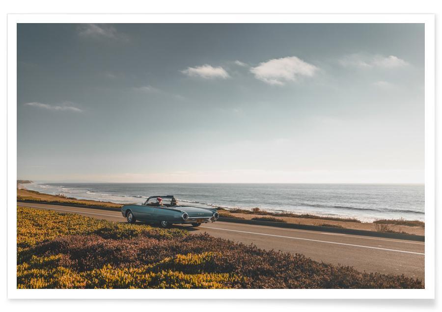 Ocean, Lake & Seascape, Beaches, Cars, Travel, San Diego Coast Cruise Poster