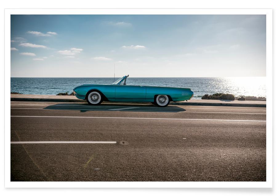 Ozeane, Meere & Seen, Reise, Autos, Strände, Visit California -Poster