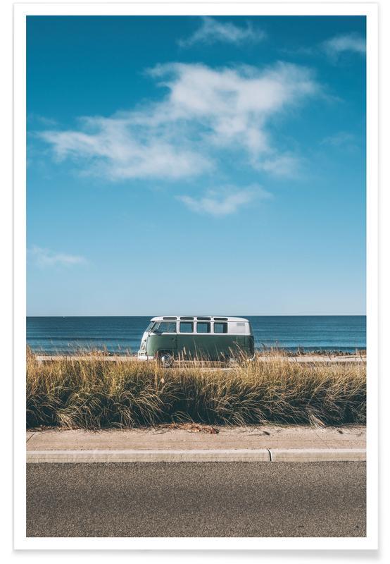 Ozeane, Meere & Seen, Reise, Autos, Strände, Pacific Horizon -Poster