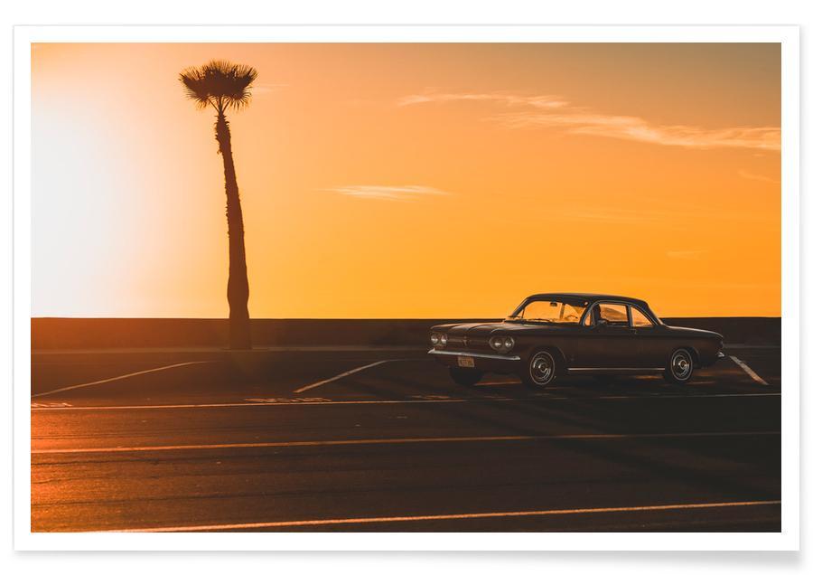 Oceanen, zeeën en meren, Stranden, Reizen, Auto's, Golden Hour poster