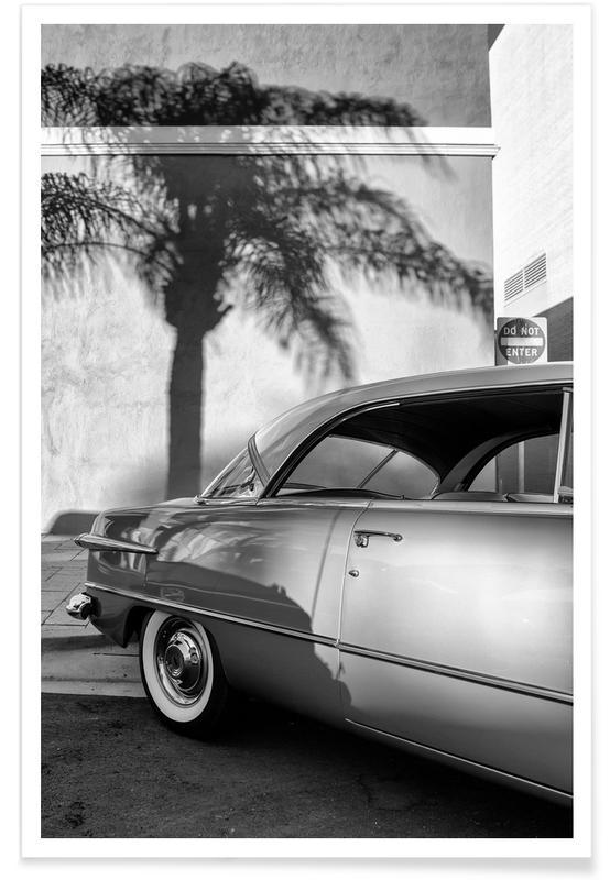 Noir & blanc, Voitures, California Ford affiche