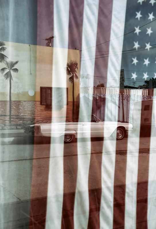 American Reflection Aluminium Print