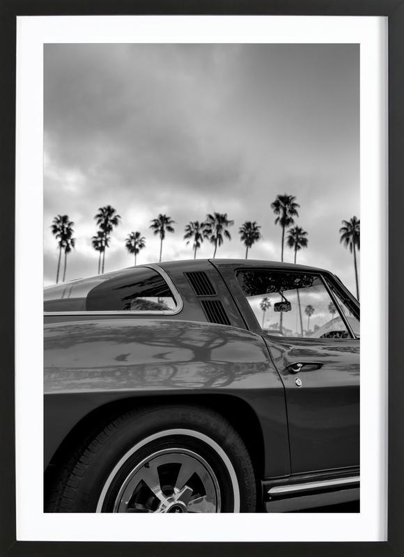 California Corvette -Bild mit Holzrahmen