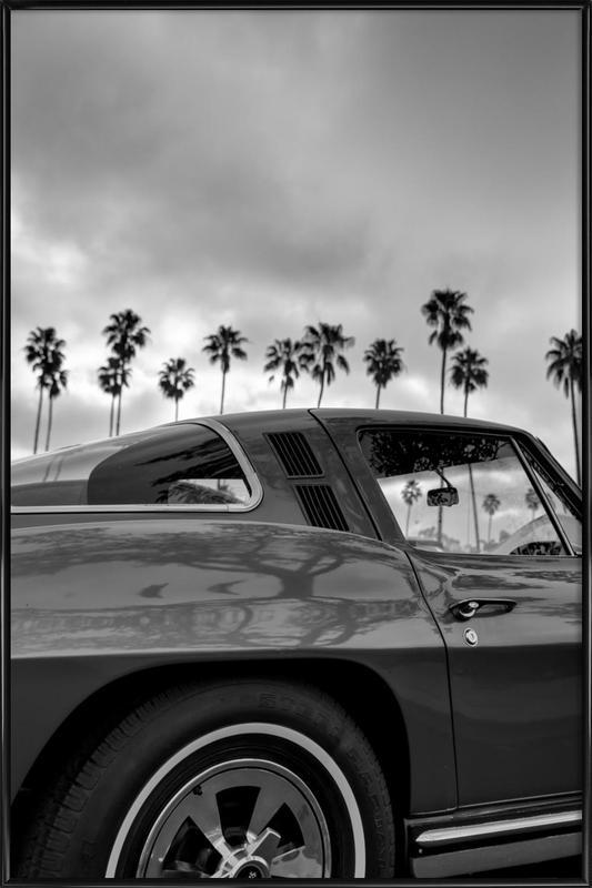 California Corvette Framed Poster