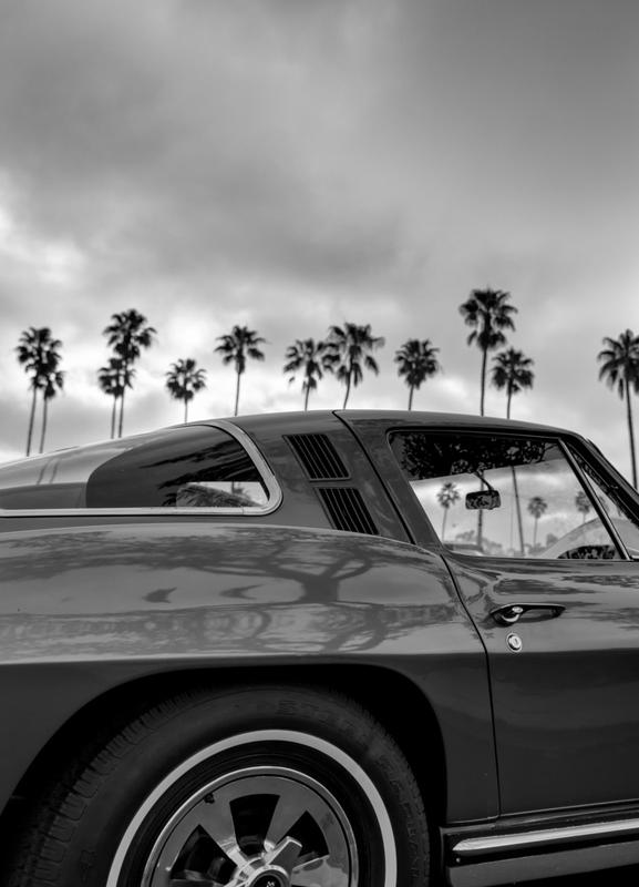 California Corvette -Leinwandbild
