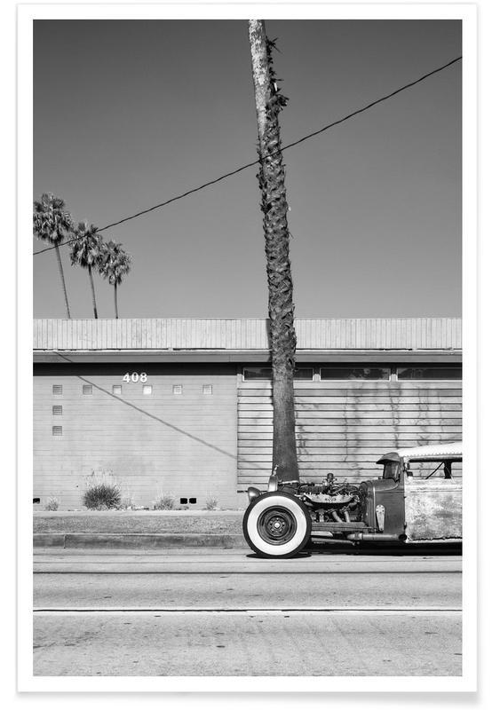 Voitures, Noir & blanc, Détails architecturaux, Rat Rod affiche