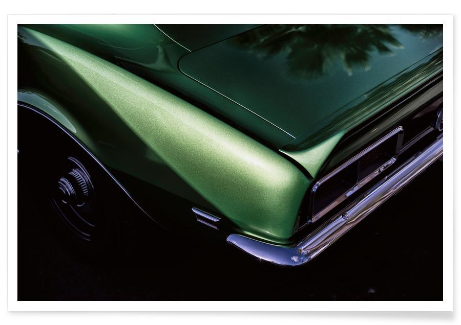 Green Camaro Photograph Poster