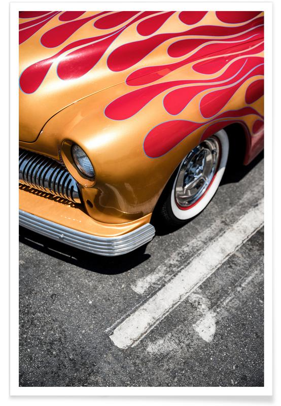 Car with Flames Photograph Poster
