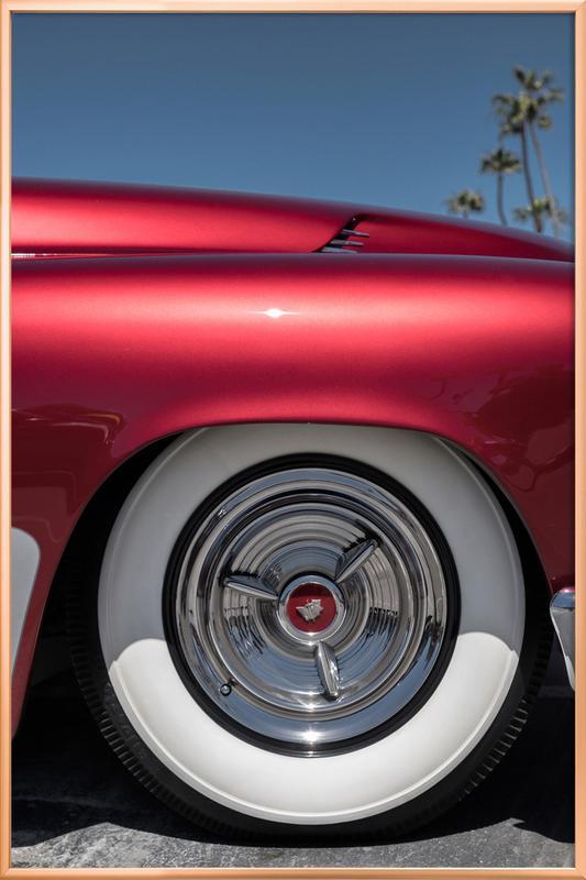 Mercury Red -Poster im Alurahmen