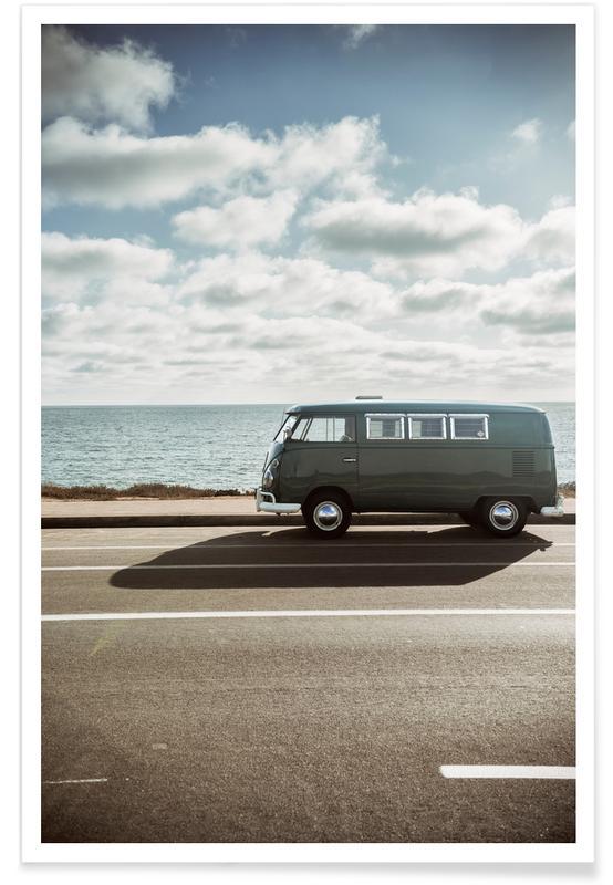 Auto's, Wolfsburg surfbusje poster