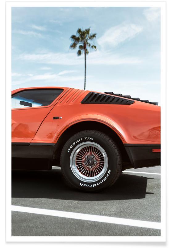 Orange Korvette 1975-Fotografie -Poster